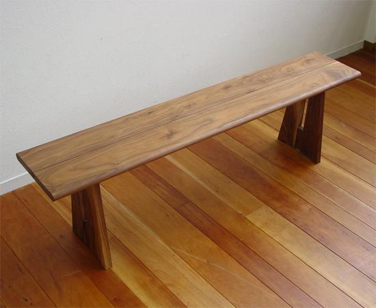 ベンチ 一枚板 木製 タモ無垢 ベンチチェア 長椅子 北欧 天然木 おしゃれ  wood ...