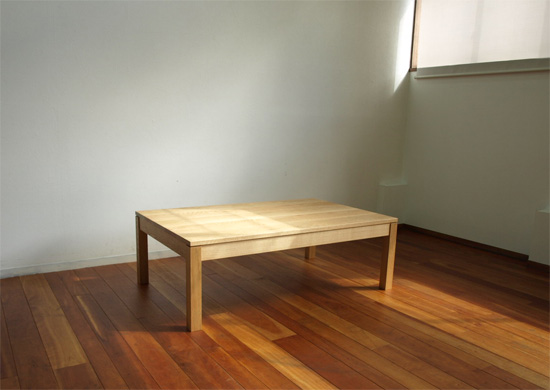ホワイトオーク ローテーブル オイルフィニッシュ りあるうっど 製作事例